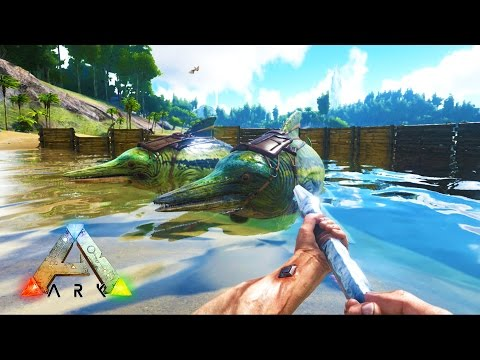 ARK: Survival Evolved - OCEAN WATER BASE! (ARK: Survival Evolved Gameplay)