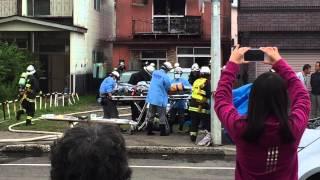 【閲覧注意】帯広市消防本部 火災出動 要救助者搬出の瞬間