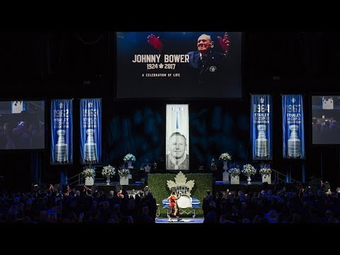 Current and former Maple Leafs remember Johnny Bower at memorial