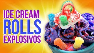 POP ROCKS ICE CREAM ROLLS | EL GUZII