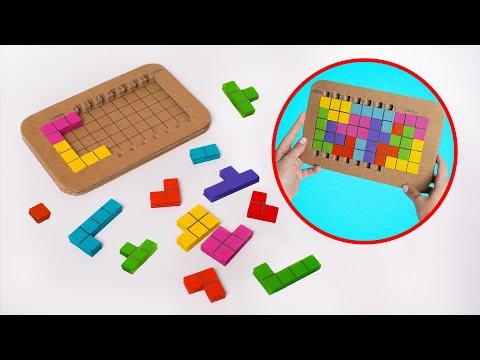 Самодельная игра «Тетрис» из картона