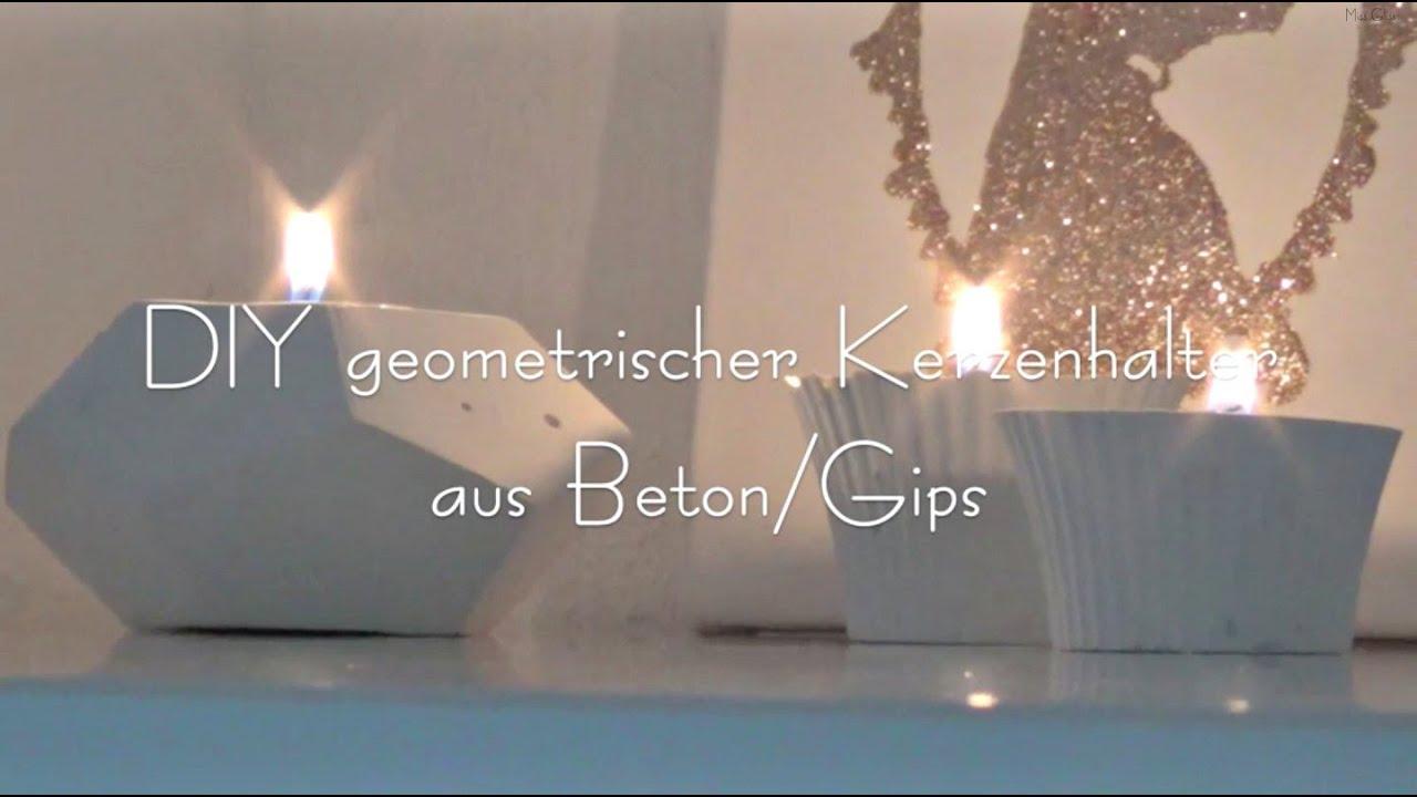 Diy Geometrischer Kerzenhalter Aus Beton Youtube