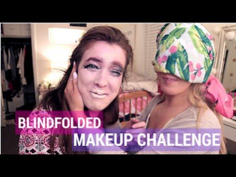 Blindfolded Makeup Challenge! | Jess & Jenna