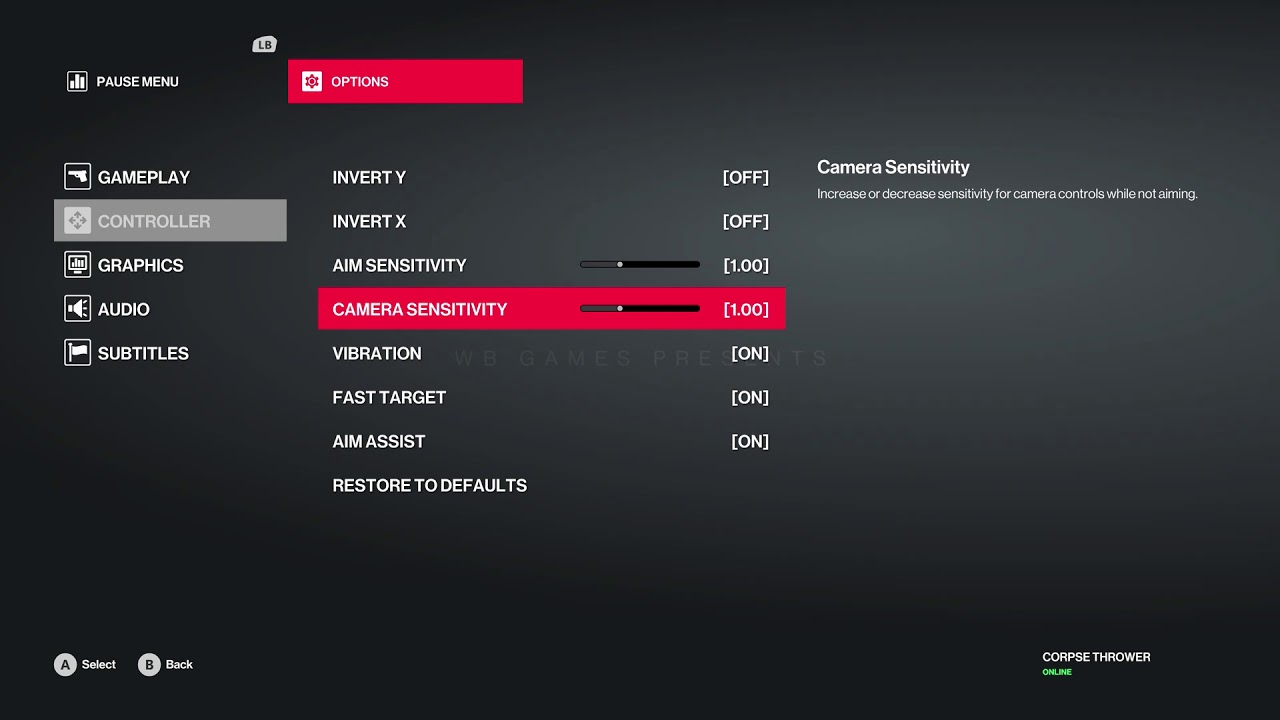 Hitman 2 - Xbox One Controller Button Layout & Graphic Settings Information  Xbox One X (2018)