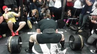 Dan Green vs Derek Poundstone 815 lbs deadlift in The Cage