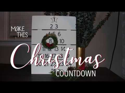 Tutorial DIY Christmas Countdown advent calendar using cricut
