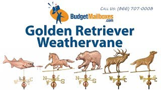 Budgetmailboxes.com | Good Directions 644p Golden Retriever Weathervane - Polished