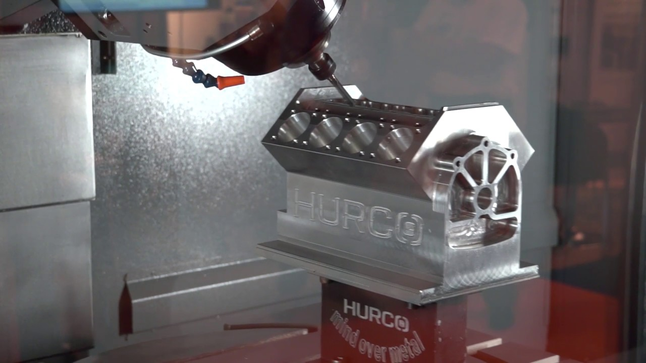 Hurco VMX42SRTi total flexible 5 axis machining in action