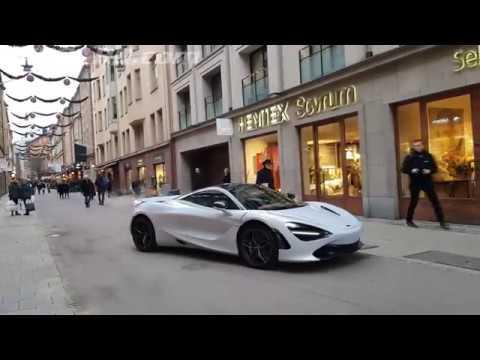 [4k] Glacier White McLaren 720S Luxury in Stockholm, Sweden. Good wintercar?