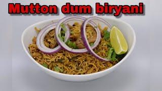 Restaurant style mutton dum biryanieasy -yummy recipemad gardener-usa