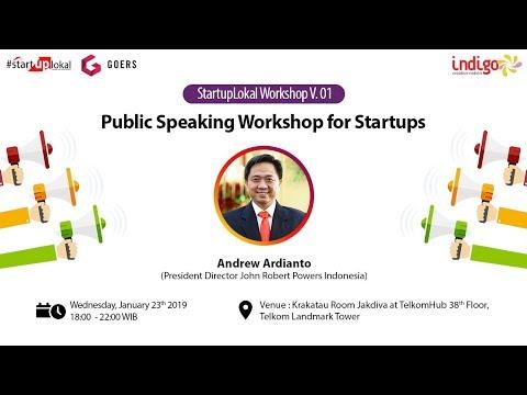 [FULL VERSION] Liputan Indigo x Startuplokal workshop v.01: Public Speaking for Startup