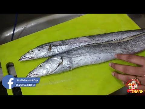 வாலை மீன் குழம்பு | Ribbon Fish | Meen Kulambu In Tamil | Fish Curry Recipe |  Chandras Kitchen