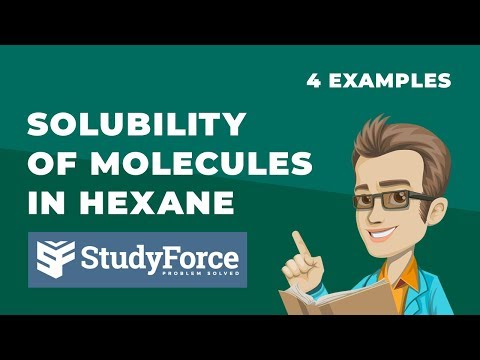 ⚗️ Solubility Of Molecules In Hexane