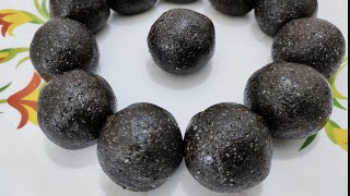 Only Two Ingredients Iron Calcium Rich Sesame LadduEasy Tasty Healthy Laddu