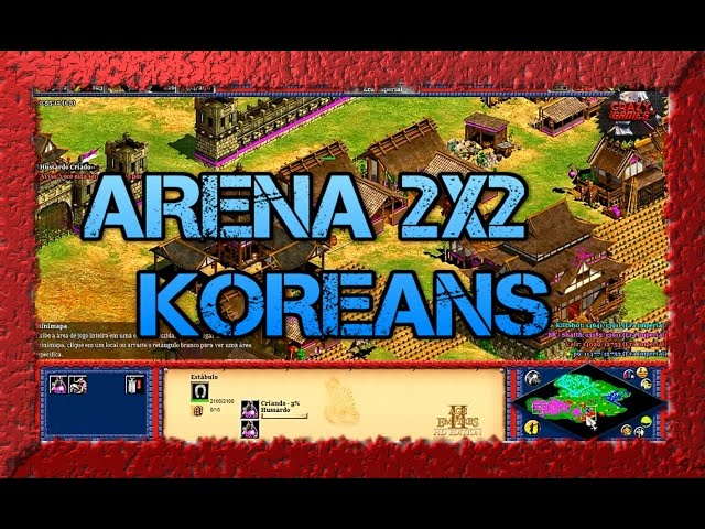Age of Empires 2 HD 2x2 Arena Koreans AoE2HD Gameplay BR