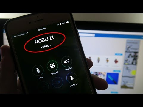 CALLING ROBLOX ON MY PHONE!