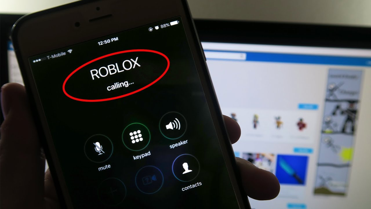 CALLING ROBLOX ON MY PHONE! - YouTube