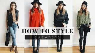 How to Style: Sweaters for Fall/Winter + Look Book