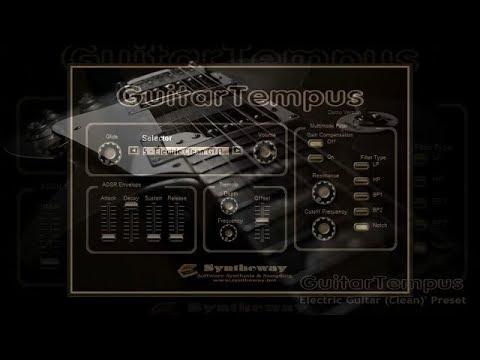 virtual electric guitar clean sound guitartempus vst vst3 audio unit exs24 kontakt windows. Black Bedroom Furniture Sets. Home Design Ideas