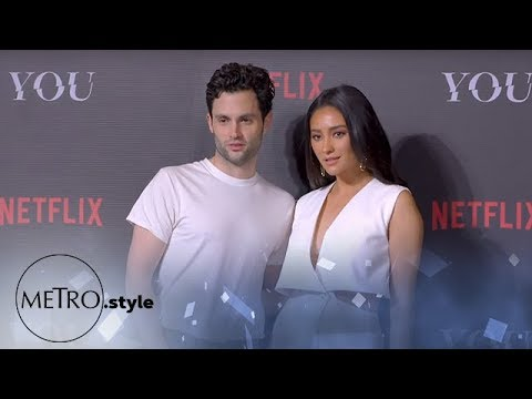 """YOU"" Stars Penn Badgley and Shay Mitchell Visit Manila"