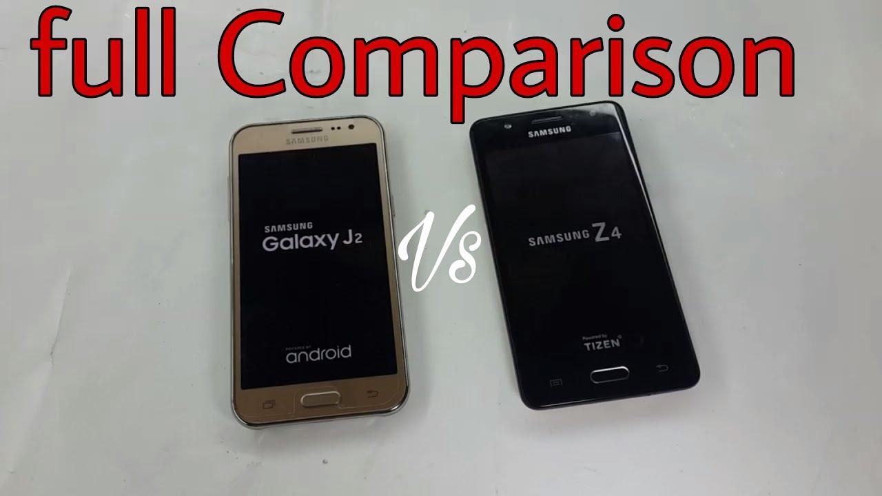 samsung z4 tizen vs galaxy j2 full comparison