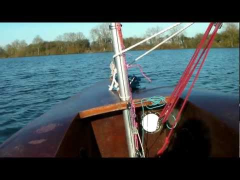 Solo dinghy 1st sail 2012 in an alarming Force 2!
