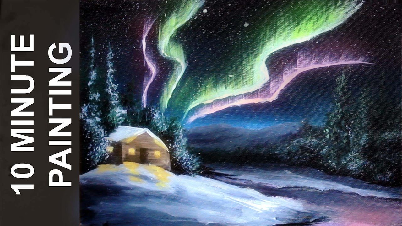 How To Paint Northern Lights In Oil