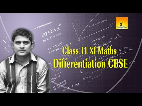 Class 11 XI Maths Differentiation CBSE