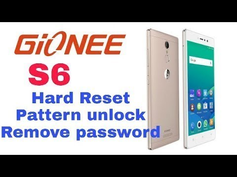 Gionee s6s Hard Reset Pattern Lock Remove Gionee Password Recovery