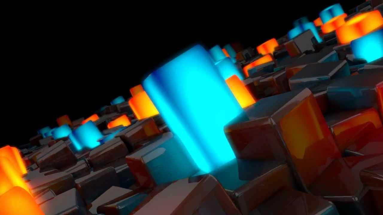 hd glowing cubes global illumination test c4d youtube