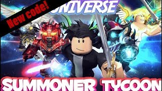 New [code] | ROBLOX summoner tycoon |