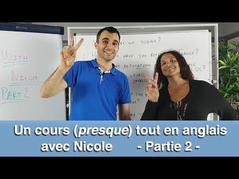 un cours presque tout en anglais avec nicole partie 2 youtube. Black Bedroom Furniture Sets. Home Design Ideas