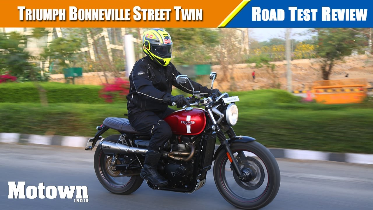 2017 Triumph Street Twin Road Test Review Motown India Youtube