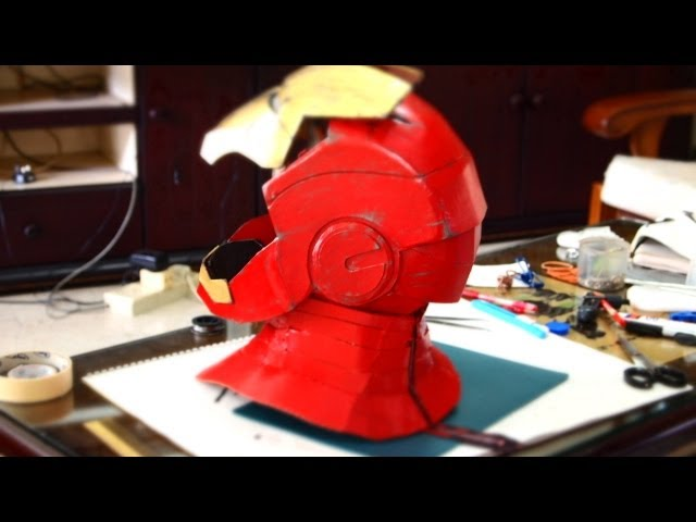 #16: Iron Man Neck - Cardboard - With Zipper (pepakura template) | How To | Dali DIY
