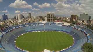 Vuelo Panorámico sobre el Estadio Azul y Plaza De Toros con Dron DJI Phantom