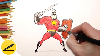 Как Нарисовать Солдата и Богатыря Супергероя на поздравление с 23 февраля(Мои супергерои. В этом видео я покажу как нарисовать солдата и богатыря супергероя поэтапно, шаг за шагом...., 2017-02-10T13:08:56.000Z)