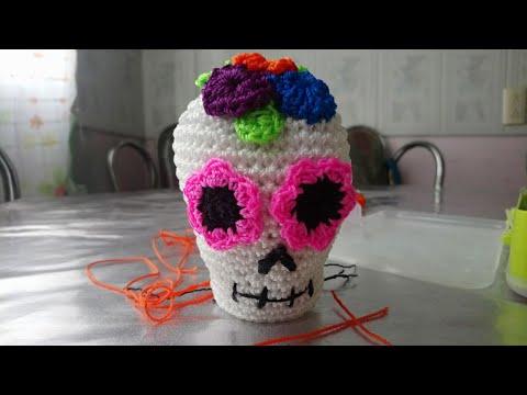How to Crochet Tutorial: DIY Crochet Around Mache-Skull by ... | 360x480