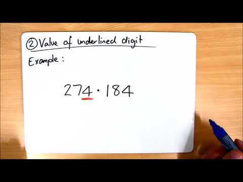 Class 18 - Homework Help - Place Value - Task 2 - Value of Underlined Digit