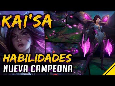 KAI'SA - HABILIDADES NUEVA CAMPEONA y SPLASH ART | Noticias Jota LoL League Of Legends Nuevo Campeón