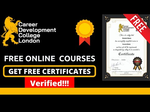 Free Online Courses from Career Development College London | Verified Free Certificates