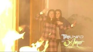 Triunfo Del Amor | Maria se desmaya por el humo