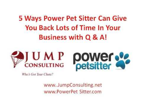 Power Pet Sitter - Business Tips