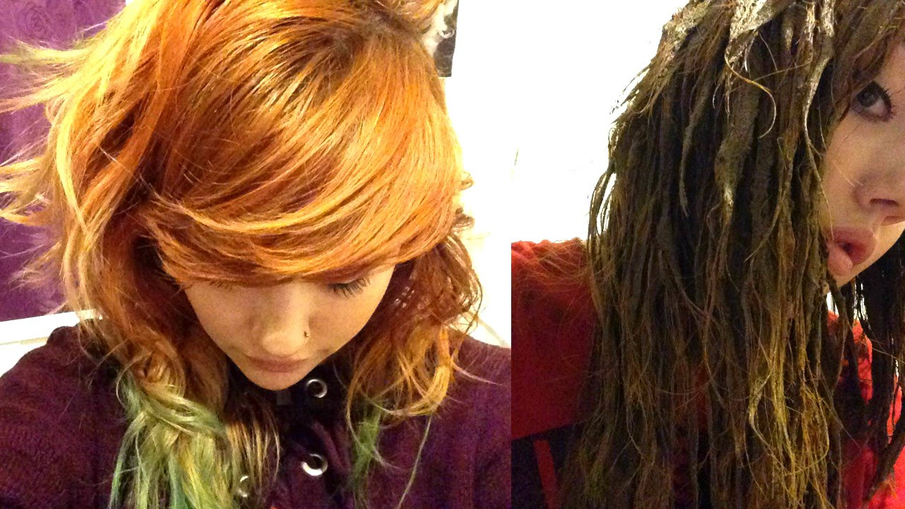 Using Lush Henna On Dyed Bright Hair Youtube