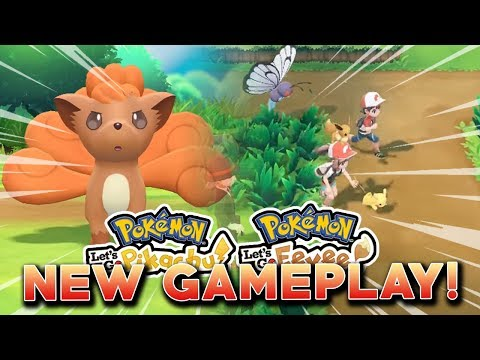 POKEMON LET'S GO PIKACHU & LET'S GO EEVEE NEW GAMEPLAY! CO-OP, ROUTE 6 & LURES!