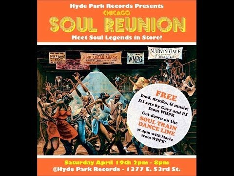 Soul Reunion on Record Shop Day in Chicago - Soul Train Dance Line