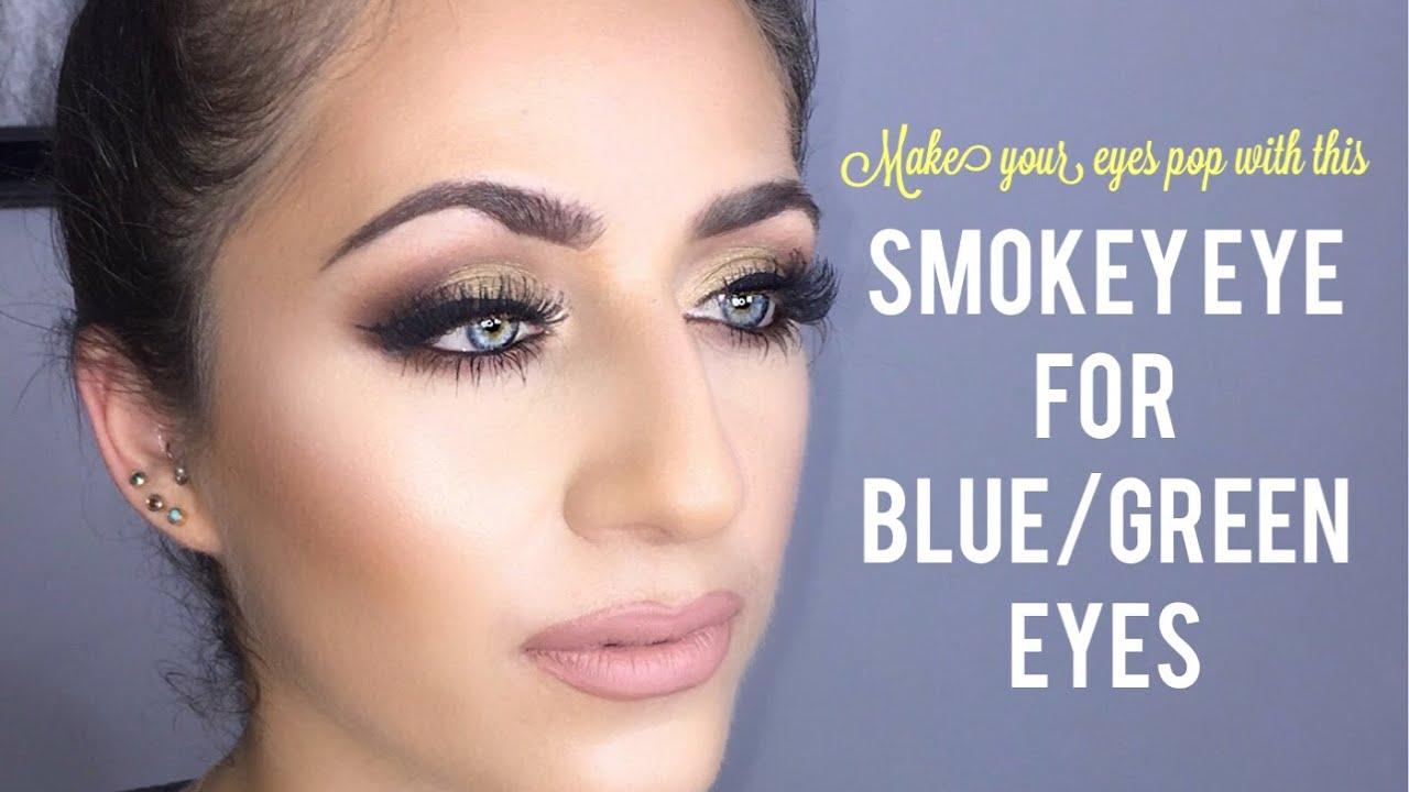 Olive Plum Smokey Eye Bluegreen Eye Pop Makeup Tutorial Youtube