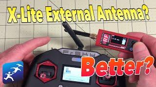 FrSky Taranis X-Lite External Antenna Bench Test vs the Taranis X9D SE