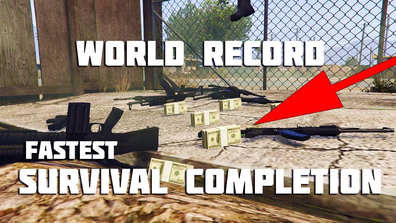 GTA Online RECORD TIME Survival Gamplay UNCUT