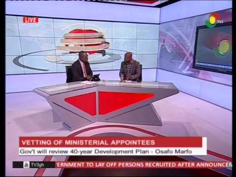Discussing the state of Ghana's 40 year dev't plan -20/1/2017