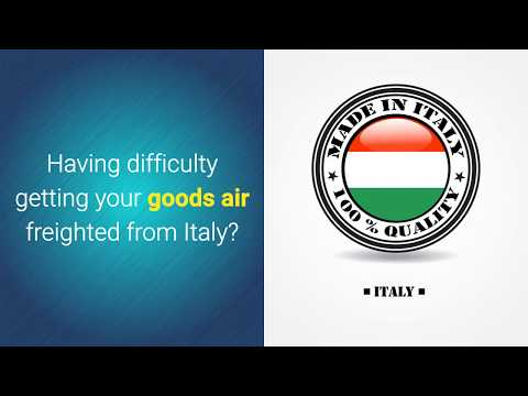 Consolidated Air Freight Italy to Australia
